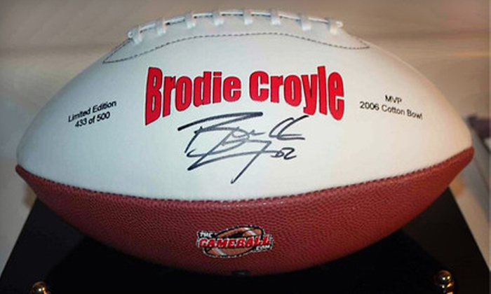 The Game Ball: $43 for a Football Autographed by Brodie Croyle from The Game Ball ($99.99 Value)