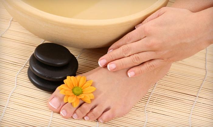Alaska Lash & Aesthetics - Taku: Full Set of LCN Nails or Aurora Manicure and Pedicure at Alaska Lash & Aesthetics (Up to 57% Off)