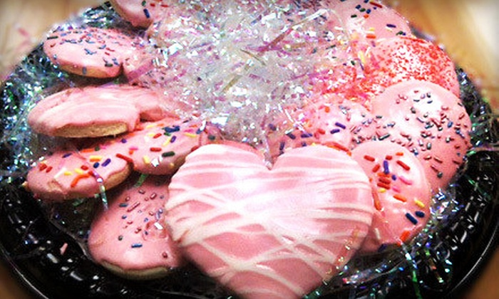 Pink City Sweets and Catering Co. - West Southwest 3: $15 for a Dozen Heart-Shaped Cookies in a Valentine's Day Package at Pink City Sweets and Catering Co. ($40 Value)