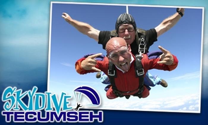 Skydive Tecumseh - Tecumseh: $159 for Tandem Skydive with Skydive Tecumseh ($275 Value)