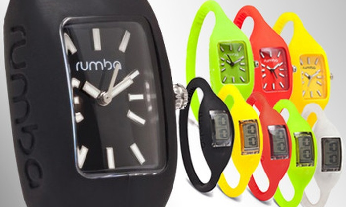 RumbaTime Wristwatch: Original 2.0 or Lafayette Wristwatch from RumbaTime (Up to 64% Off). Five Colors and Multiple Sizes Available.