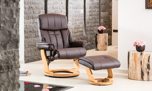 Leather Swivel Massage Recliners