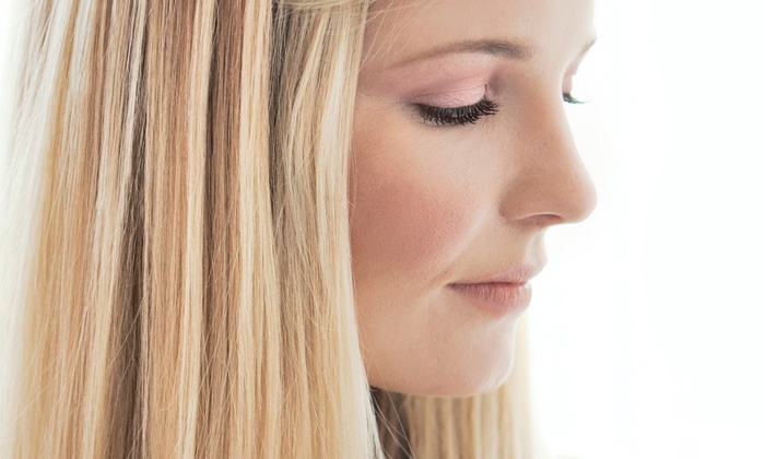 Elite Salon & Day Spa - Multiple Locations: Haircut, Blow Dry, and Style with Options for Partial or Full Highlights at Elite Salon & Day Spa (Up to 65% Off)