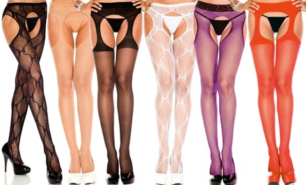 Women's Sexy Suspender Pantyhose. Plus Sizes Available.