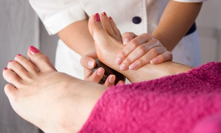 $25 for a Hot-Stone or Sea-Salt Reflexology Treatment with Ion Cleanse at The Foot Lounge ($ Value)