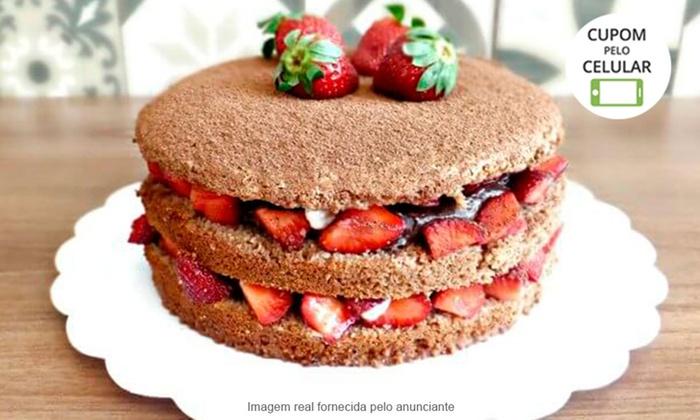 Amor de Gula - BRASÍLIA: Amor de Gula – Águas Claras: torta Amor de Morango