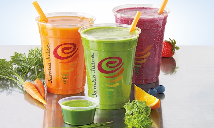 Jamba Juice - Multiple Locations: Three Groupons, Each Good for One 16 Oz. Freshly Squeezed Juice at Jamba Juice (Up to 42% Off)