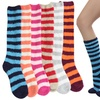 Women's Striped Plush Knee-High Socks (6 Pairs)