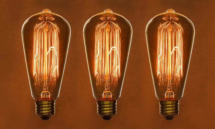 antique edison style s19 filament light bulbs 6 pack groupon