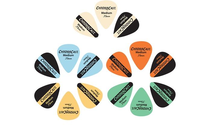 30-Pack of ChromaCast Vintage Guitar Picks: 30-Pack of ChromaCast Light-, Medium-, or Heavy-Gauge Vintage Guitar Picks. Free Returns.