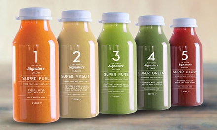 Super Eleven ThreeDay £54.99 or FiveDay £69.99 Signature ColdPressed Juice Diet Plan