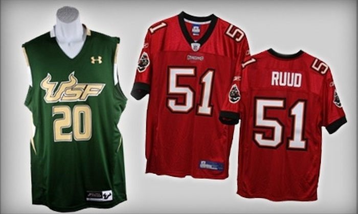 Authentic Team Merchandise - Tampa Bay Area: $15 for $30 Worth of Official Bucs, Bulls, Rays, and Lightning Apparel at Authentic Team Merchandise