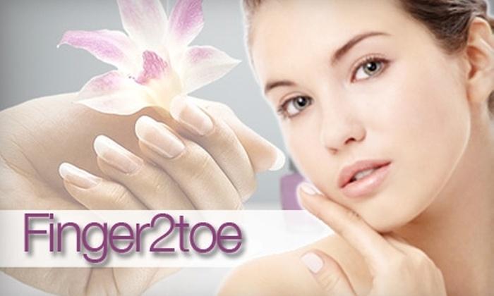 Finger2toe - Seven Oaks: $45 for a Signature Facial and Mani-Pedi Polish Change at Finger2toe in Westerville ($90 Value)