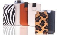 Funda de piel para iPhone y Samsung Galaxy