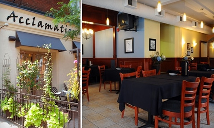 Acclamation - Downtown Hamilton: $15 for $30 Worth of Global Fare and Drinks at Acclamation