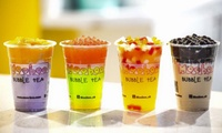Bubble Waffle with Optional Bubble Tea for One or Two at Moo-Boo, Four Locations (Up to 35% Off)