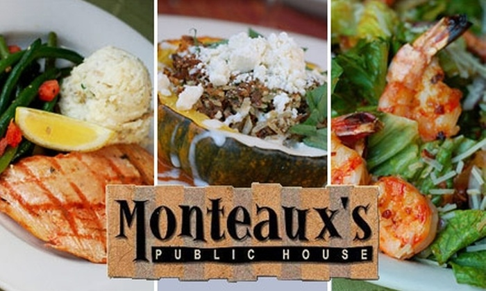 Monteaux's Public House - Five Oaks: $12 for $25 Worth of Seasonal World-Fusion Fare and Drinks at Monteaux's Public House