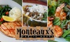 OOB Monteaux's Public House - Five Oaks: $12 for $25 Worth of Seasonal World-Fusion Fare and Drinks at Monteaux's Public House