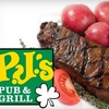 $10 for Fare at PJ's Pub and Grill