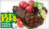 PJ's Pub and Grill - Downtown: $10 for $20 Worth of Pub Fare and Drinks at PJ's Pub and Grill