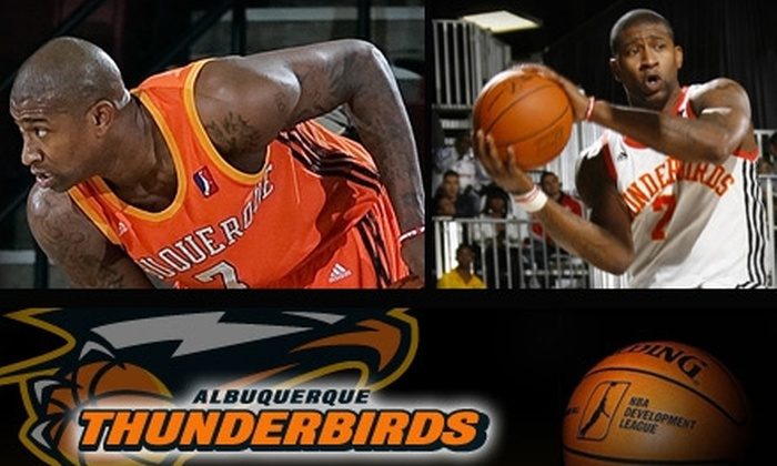 Albuquerque Thunderbirds - Fairgrounds Addition: $15 for Two Box-Seat Tickets to Albuquerque Thunderbirds vs. L.A. D-Fenders ($40 Value). Buy Here for Saturday, March 13, at 7 p.m. Click Below for Additional Games.