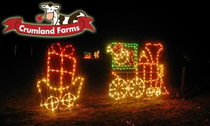 Crumland Farms - Frederick: $10 for a Group Admission to Crumland Farms' Holiday Lights Spectacular in Frederick (Up to $20 Value)