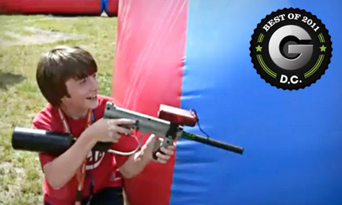 Pev's Paintball Park - Blue Ridge: Laser Tag for Two, Four, or 10 People at Pev's Paintball Park in Aldie (Up to 60% Off)