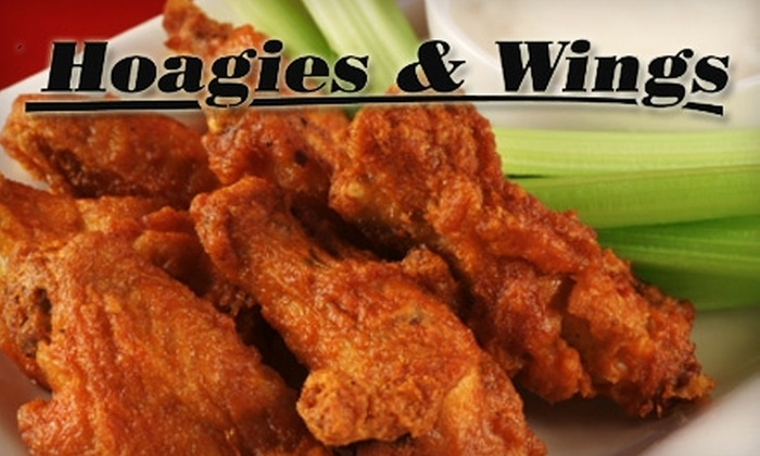 Hoagies & Wings - Multiple Locations: $20 for $40 Worth of Catering or $6 for $12 Worth of Hot Subs and Wings at Hoagies & Wings