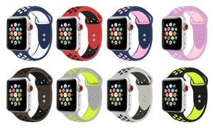 Adjustable Silicone Sport Band for Apple Watch Series 1-4 and Sport
