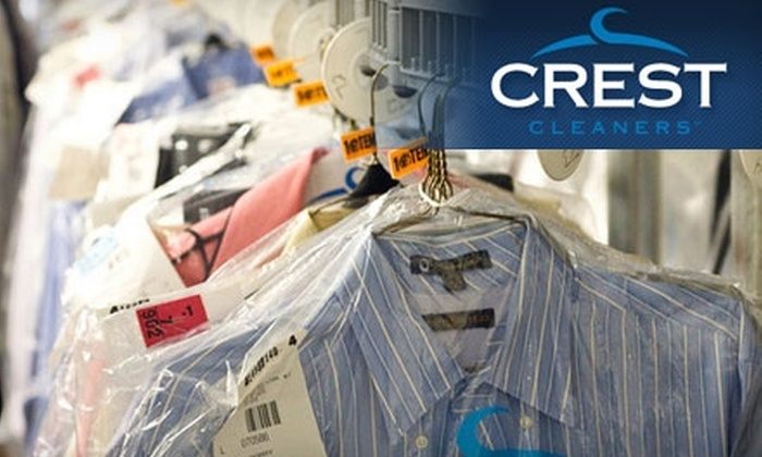 Crest Cleaners - Multiple Locations: $10 for $20 Worth of Dry-Cleaning Services at Crest Cleaners. Choose from 15 Locations.
