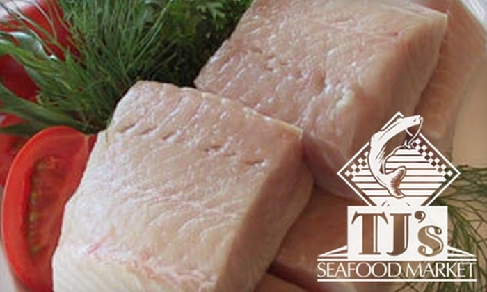 TJ's Fresh Seafood Market - North Dallas: $20 for $50 Worth of Fresh Seafood and More or $40 for a Shrimp Platter ($90 Value) at TJ's Fresh Seafood Market