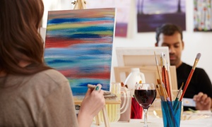 Heartsy: A Wine and Painting Class for One, Two, or Four at Heartsy (Up to 53% Off)