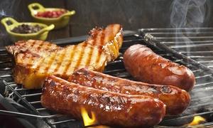 Flamingo: Menu con grigliata di carne e calice di vino per 2 o 4 persone al ristorante Flamingo (sconto fino a 55%)
