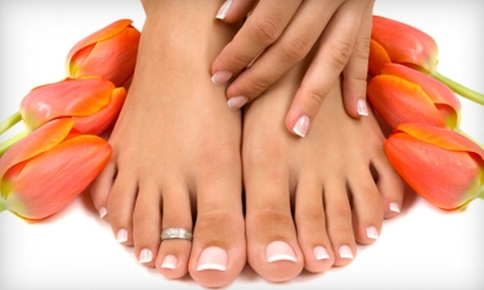 be SPAcific Salon and Spa - Belvidere: $35 for a Manicure and Pedicure at be SPAcific Salon and Spa in Belvidere ($70 Value)