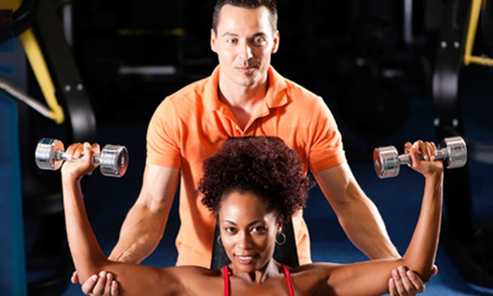 District Fitness Studio - Core: Personal-Training or Fitness Classes at District Fitness Studio (Up to 59% Off). Four Options Available.