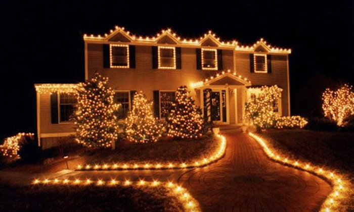 Soap Slingers - Lansing: Holiday-Lights Installation Package from Soap Slingers (Up to 64% Off). Three Options Available.