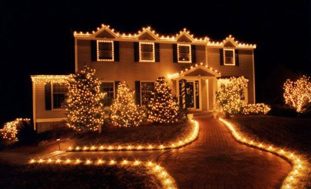 Holiday-Lights Installation Only Package for a 1- or 2-Story Home (up to a $550 total value)  - Soap Slingers in
