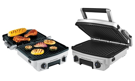 Big Boss 6-in-1 Stainless-Steel Reversible Grill