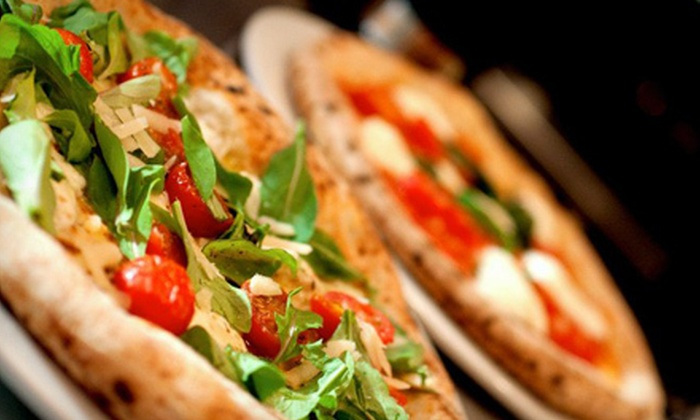 Zigolinis Pizza Bar - Midtown,Hell's Kitchen,Theatre District: Pizza Meal with Salad, Pizza, and Wine or Beer for Two or Four at Zigolinis Pizza Bar (Up to 66% Off)