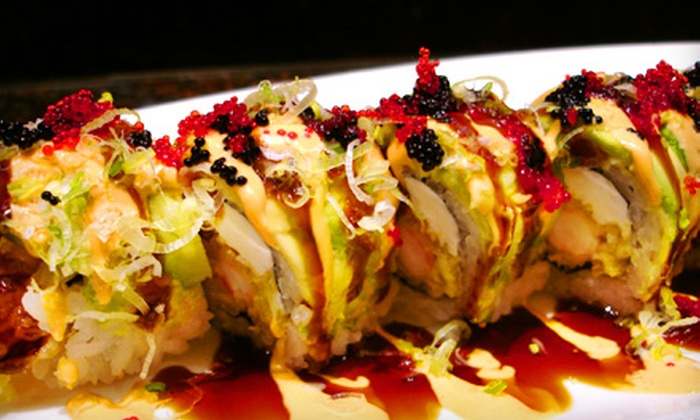 Aodake Sushi & Steak House - Multiple Locations: $25 for $50 Worth of Japanese Fare and One Large Hot Sake at Aodake Sushi & Steak House ($57 Value)