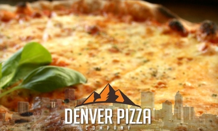 Denver Pizza Company - Multiple Locations: $5 for $10 Worth of Pizza and Drinks at Denver Pizza Company. Choose One of Two Locations.