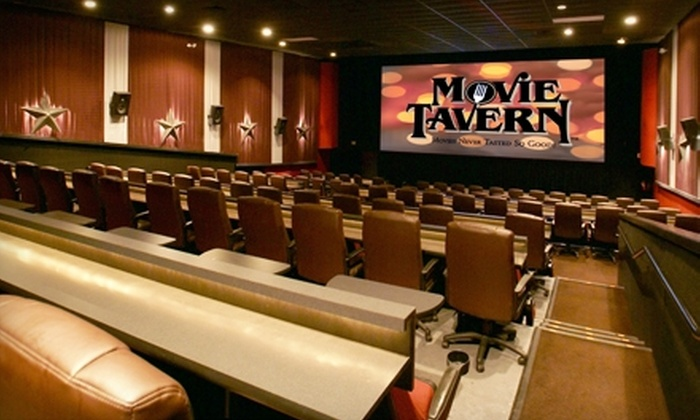 Movie Tavern - Multiple Locations: $6 for One Movie Ticket and Large Popcorn at Movie Tavern (Up to $15.25 Value)