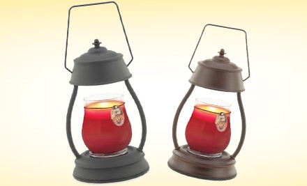 Black Hurricane Candle Warmer Lantern with 16-Ounce Jamie Clair Hot-Apple-Pie Candle Plus Shipping (a $60 value) - Candle Warmers, Etc. in