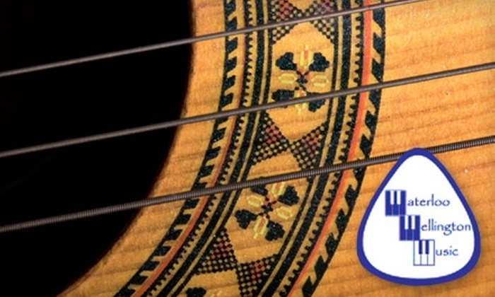 Waterloo Wellington Music - Kitchener - Waterloo: $29 for Four Half-Hour Music Lessons at Waterloo Wellington Music ($60 Value)