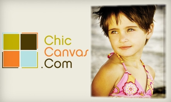 ChicCanvas.com: $45 for a Personalized Canvas Photo Art Print or Gift Card from ChicCanvas.com