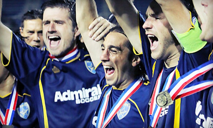 Minnesota Stars FC - Downtown East: Two or Four Tickets to a Minnesota Stars FC Soccer Game at the Metrodome on April 7 at 7:30 p.m. (Up to 55% Off)