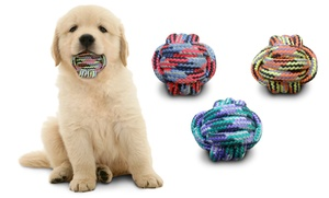 Bow Wow Pet Bright Knotted Rope Balls (3-Pack)