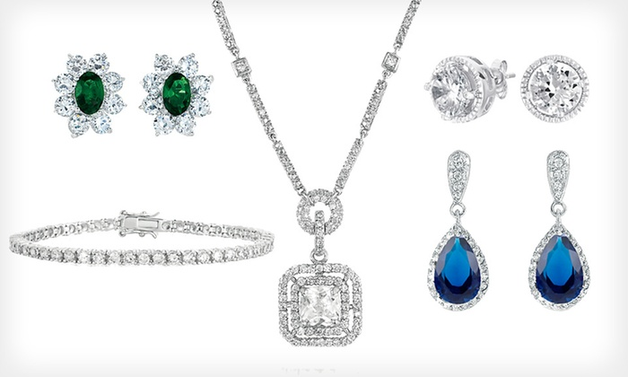 Genevive Cubic-Zirconia Jewelry: Genevive Cubic-Zirconia Jewelry (Up to 87% Off). 20 Options Available. Free Shipping and Free Returns.