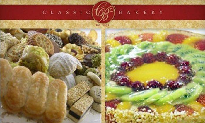 Classic Bakery - Gaithersburg: $10 for a Fruit Cake or Two Pounds of Cookies or Pastries from Classic Bakery (Up to $21 Value)