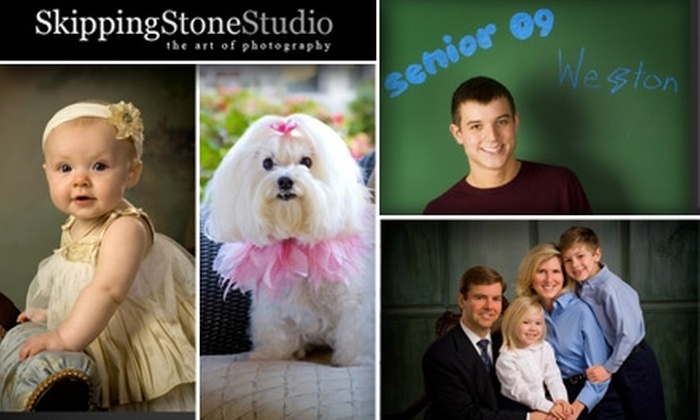 Skipping Stone Studio - Commerce Business Park: $49 for a 30-Minute In-Studio Photo Session, 1 Mounted 11x14 Signature Finish Photo, and Two 5x7 Traditional Finish Photos at Skipping Stone Studio ($387 Value)
